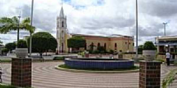 Praça e Igreja do Sagrado Coração de Jesus-Foto:Walter Leite