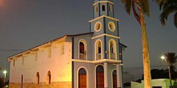 Várzea-RN-Vista noturna da Matriz-Foto:Juninho.natal.rn