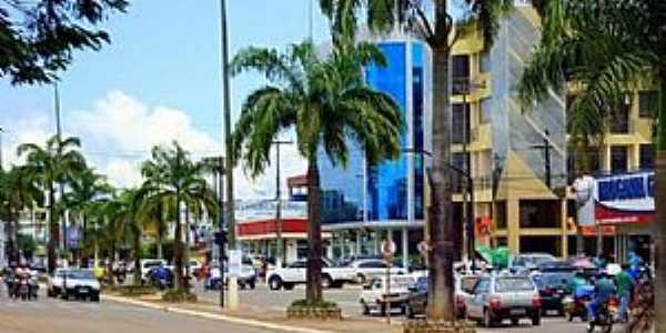 Alto Paraiso-RO-Avenida central-Foto:facebook.com/ConexaoParaiso