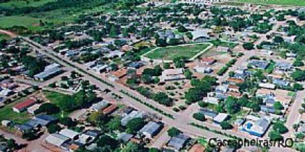 Castanheiras-RO-Vista aérea da cidade-Foto:www.pmcastanheiras.ro.gov.br