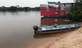 Costa Marques - Costa Marques-RO-Embarcações no Rio Guaporé-Foto:Emerson Neves