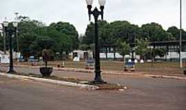 Costa Marques - Costa Marques-RO-Praça e Avenida Principal-Foto:Emerson Neves