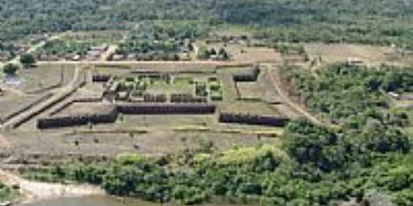 Costa Marques-RO-Vista aérea do Forte Príncipe da Beira-Foto:silvio santos