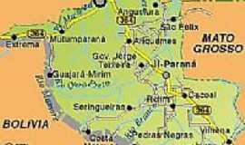 Governador Jorge Teixeira - Mapa de Localização