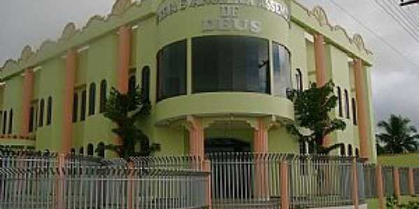 Templo Central das Assembleia de Deus em Nova União, RO - por Eliel Vieira