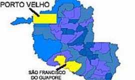 São Francisco do Guaporé - Mapa de Localização - São Francisco do Guaporé-RO