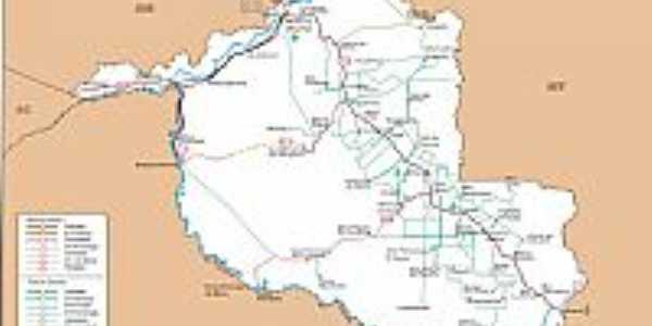Mapa de Localização - Vale do Paraíso-RO