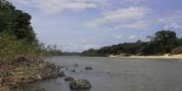 Rio Tacutu - fronteira entre Brasil e Guiana Inglesa, Por Derbi Mota de Souza