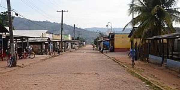 Uiramutã-RR-Rua da cidade-Foto:Joeldson Habert