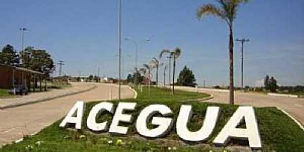 Acegu�-RS-Entrada da cidade-Foto:www.acegua.rs.gov.br