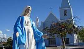 Delmiro Gouveia - Delmiro Gouveia-AL-N.S.das Graças em frente à Igreja Matriz-Foto:Walter Leite