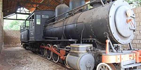 Delmiro Gouveia-AL-Locomotiva no Museu Delmiro Gouveia-Foto:RICARDO SABADIA