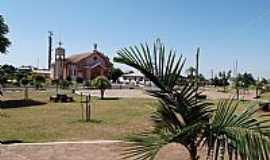 Ametista do Sul - Ametista do Sul-RS-Praça e a Igreja de São Gabriel-Foto:Fredy Silva