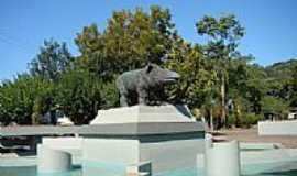 Anta Gorda - Monumento na praça em Anta Gorda-RS-Foto:Edilson V Benvenutti
