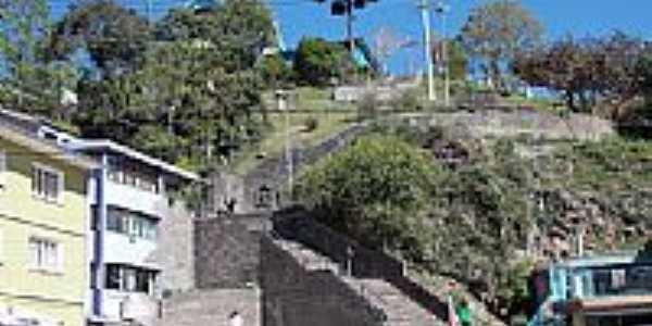 Antônio Prado-RS-Escadarias no final da Av.dos Imigrantes-Foto:Sidnei Recco