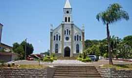 Aratiba - Praça e Igreja Matriz de Aratiba-RS-Foto:Auri Brandão