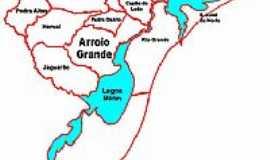 Arroio Grande - Mapa de Localização