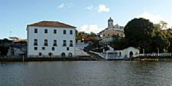 Rio Jaguaripe e parcial da cidade de Jaguaripe-BA-Foto:Bigode45