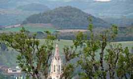 Áurea - Vista da Torre da Igreja-Foto:Euzébio Skovroinski