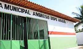 Ja�ba - Ja�ba-BA-Escola Municipal Ambr�sio Bispo de Ara�jo-Foto:Simas