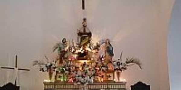 Jaíba-BA-Altar da Igreja de São Roque-Foto:BOCA QUENTE