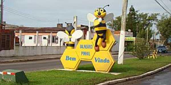Balneário Pinhal-RS-Placa de Boas Vindas-Foto:PCRAPAKI
