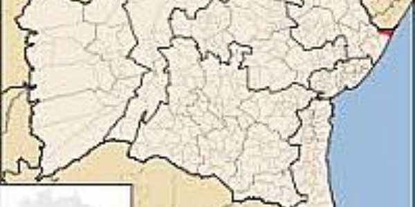 Jandaíra-BA-Mapa de Localização