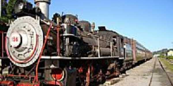 Trem Turístico Maria Fumaça em Bento Gonçalves-RS-Foto:Romão