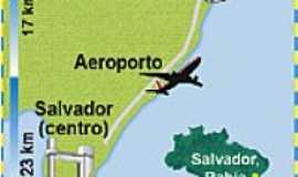 Jauá - Mapa de Localização - Praia Jauá