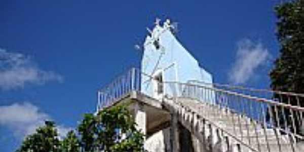 Dois Riachos-AL-Escadaria e Capela da Pedra de Padre Cícero-Foto:Luiz Sávio de Almeida