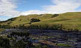 Cambará do Sul - Rio Camisas no Lajeado Margaridas em Cambará do Sul-RS-Foto:Zaib Tecnologia