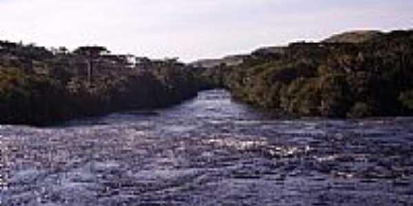 Rio Camisas no Lajeado Margaridas em Cambará do Sul-RS-Foto:Zaib Tecnologia