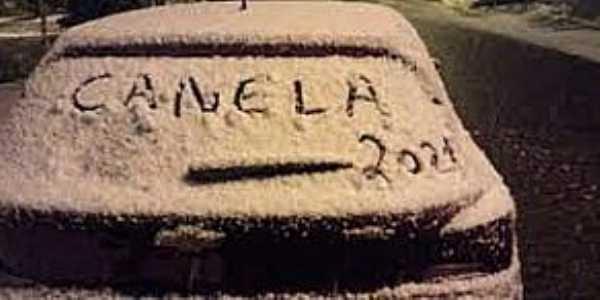 Imagens da cidade de Canela/RS com queda de neve-Julho/2021-Foto:UOL Notícias