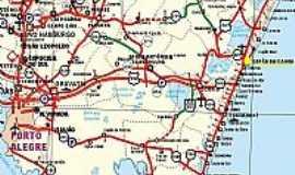 Cap�o da Canoa - Mapa