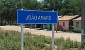 João Amaro - Entrada da cidade de João Amaro-BA-Foto:portalitaberaba.com
