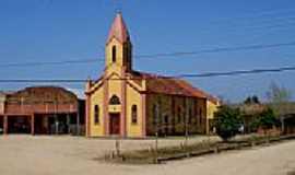 Capão da Porteira - Praça e Igreja em Capão da Porteira-Foto:Paulo Lilja