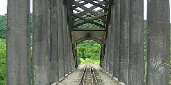 Clara-RS-Ponte Ferroviária sobre o Rio Toropi-Foto:alepolvorines