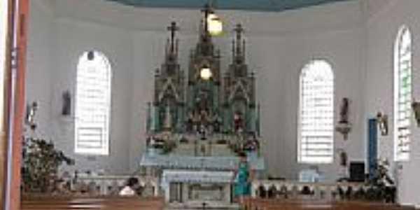 Interior da Capela de São Pedro em Coxilha Grande-Foto:Fábio P. Hoffmann