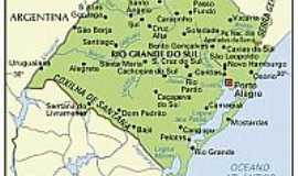 Dom Pedrito - Mapa de localização