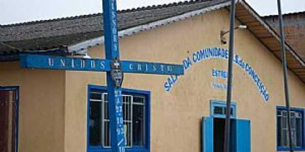 Estreito-RS-Salão da Comunidade N.Sra.da Conceição-Foto:Ministério de Música Toque de Luz-Facebook