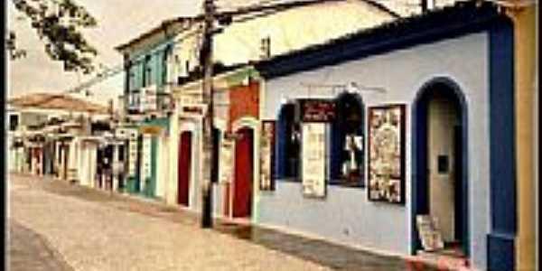 Rua de comércio em Lagoa Grande-Foto:Gabriel Durdos