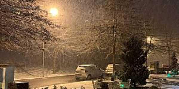 Imagens da cidade de Gramado/RS com queda de neve em Julho/2021-Foto:Pablo Berger