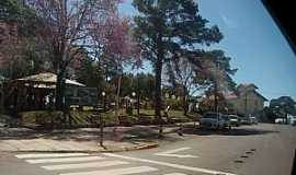 Horizontina - Horizontina-RS-Praça na avenida principal-Foto:prb10hz.blogspot.com