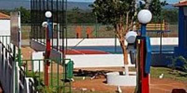 Lagoa Preta-BA-Área de Lazer na Escola Municipal-Foto: jose ivo