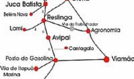 Itapu� - Mapa de Localiza��o
