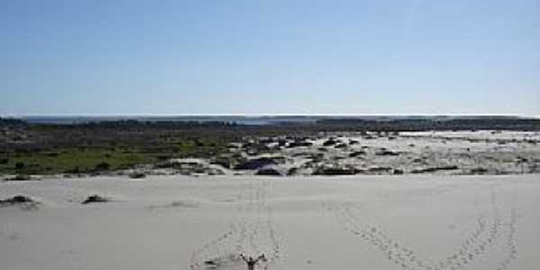 Magistério-RS-Dunas na praia-Foto:Luciano Pereira