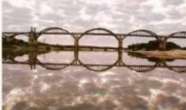 Manoel Viana - Vista fluvial da Ponte Gen. Osório, Por Claudio Ricardo Freitas (Kaco)