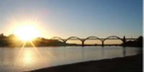 Ponte Gen.Osório sobre o Rio Ibicuú, Por Claudio Ricardo Freitas (Kaco)