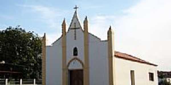 Igreja Matriz de S�o Jo�o Batista em Lap�o-BA-Foto:Vicente A. Queiroz