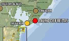 Lauro de Freitas - Mapa